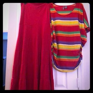 New Direction Red skirt and too! Super cute!
